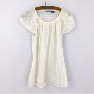 Anthropologie Girls From Savoy Ivory Silk Blouse